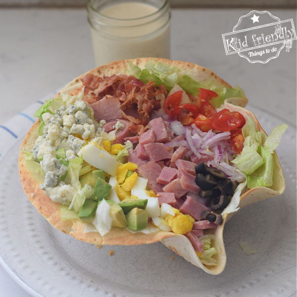 Cobb Salad with Ham {& Dressing} Recipe
