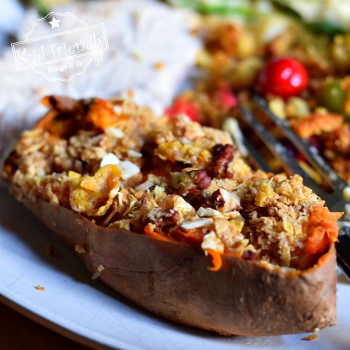 Sweet Potato with Crunch topping for Thanksgiving