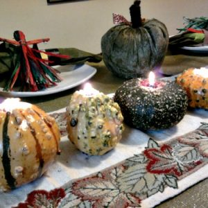 Making Gourd Candles