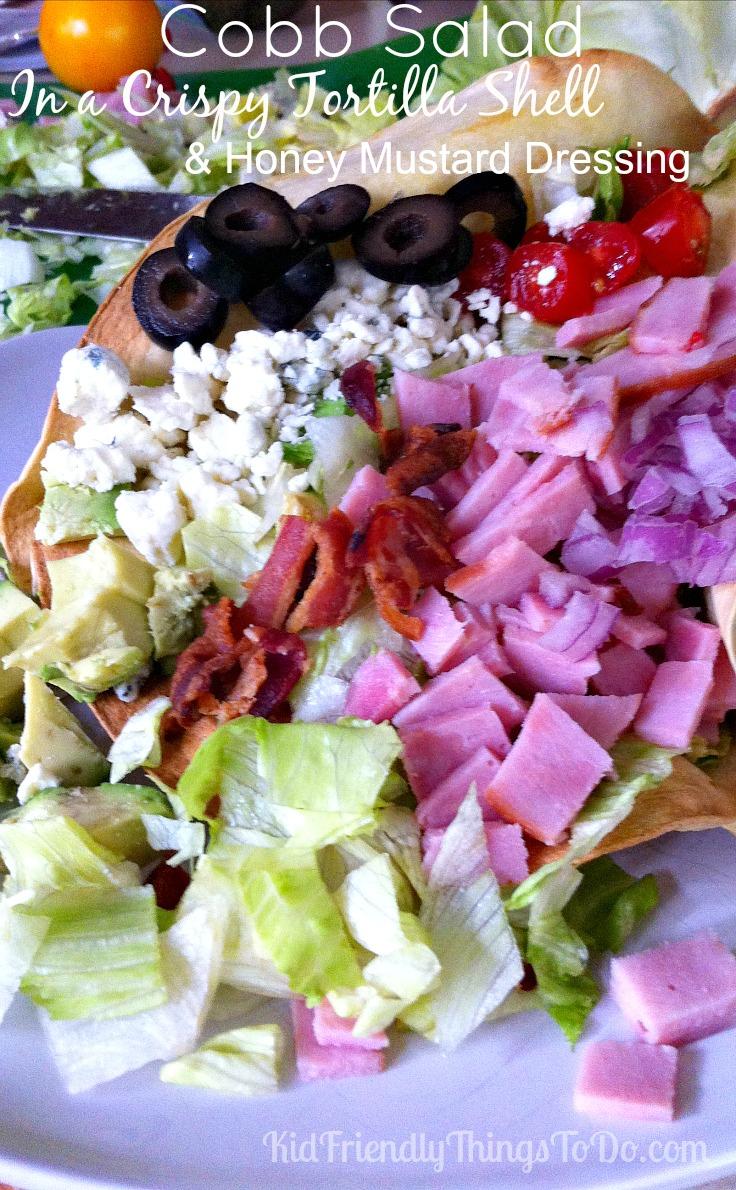 Cobb Salad with Honey Mustard Dressing - KidFriendlyThingsToDo.com
