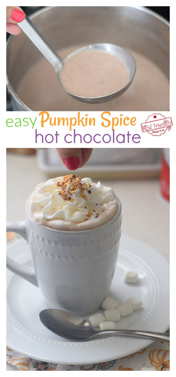 easy pumpkin spice hot chocolate