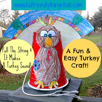 Interactive Turkey Gobbling Turkey Craft for Kids