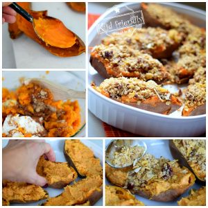 Making of Twice Baked Candied Sweet Potatoes