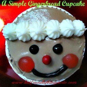 A Simple & Cute Gingerbread Boy Cupcake