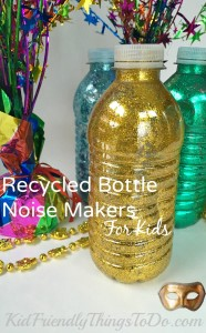 Make New Years Eve Noise Makers From Recycled Water Bottles