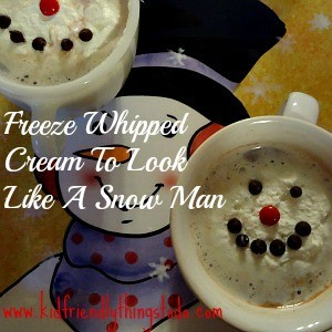 Melting Snowman Whipped Cream Topping For Hot Cocoa – A Fun Food Idea