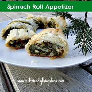 spinach phyllo appetizer bits