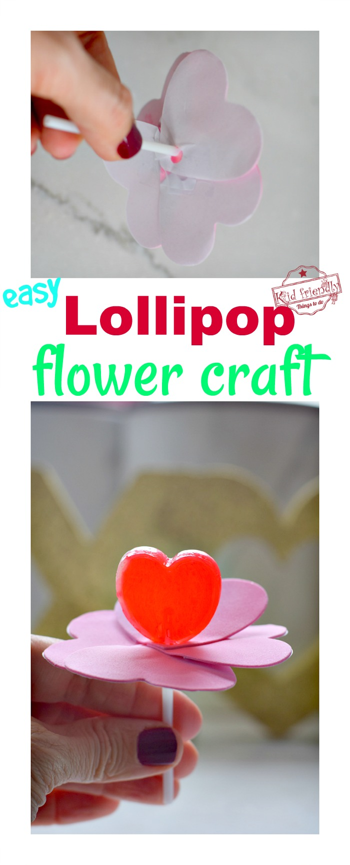 Lollipop Flower Craft for Kids to Make