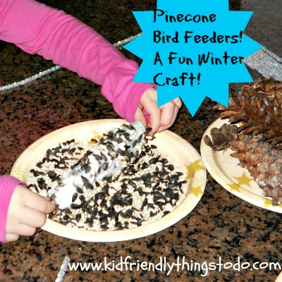 Pinecone Bird Feeder Craft