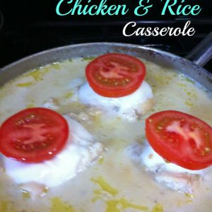 One Pot Meal, Chicken and Rice Skillet Casserole the whole family will love!