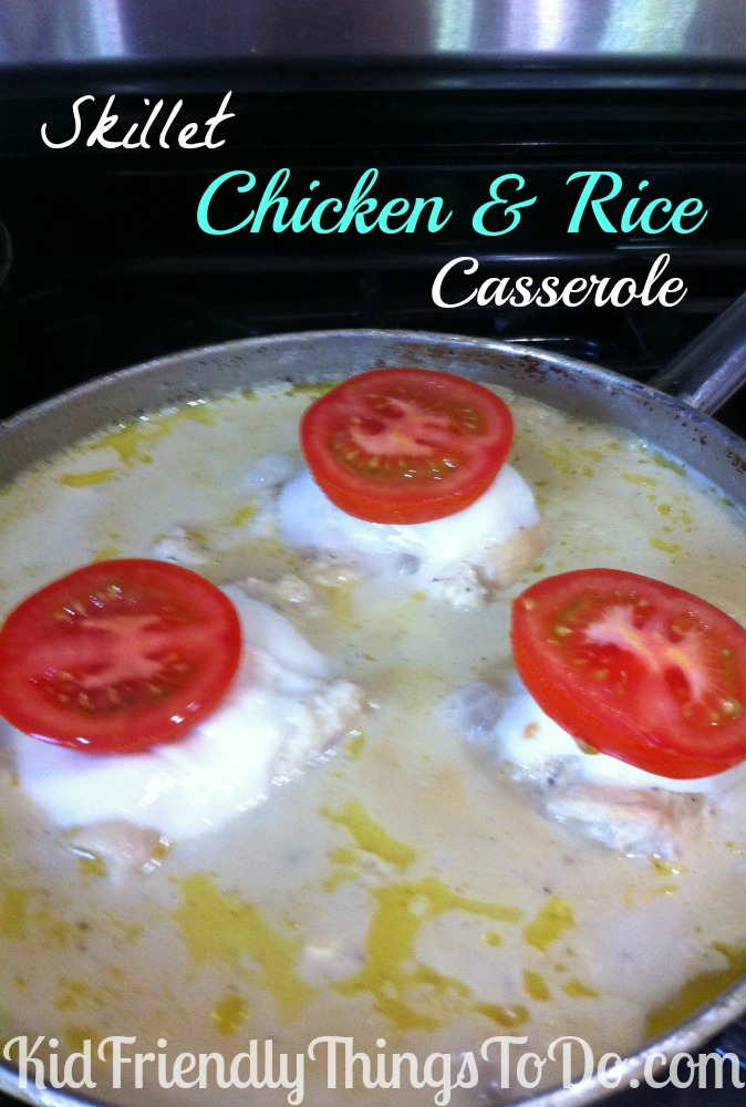 One Pot Meal, Chicken And Rice Skillet Casserole
