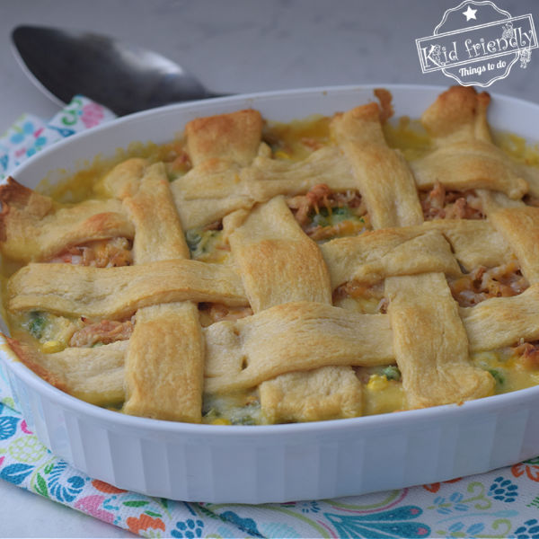 chicken pot pie with crescent roll top