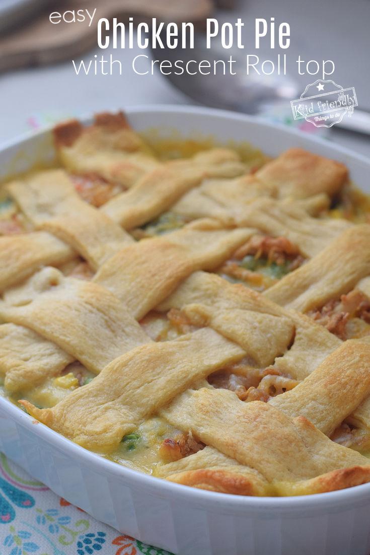 Chicken Pot Pie with crescent crust