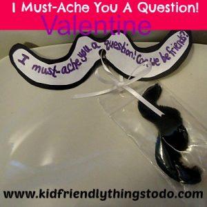 non-candy mustache Valentine's gift idea