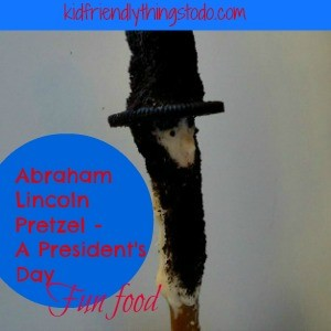 Abraham Lincoln Chocolate Pretzel, A President's Day Fun Food