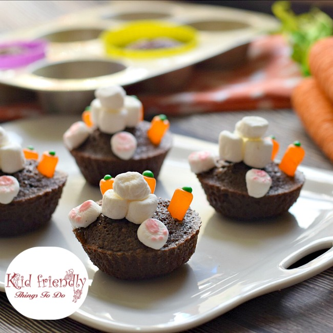 Bunny Butt Brownie Cupcakes for a Fun Easter or Spring Treat
