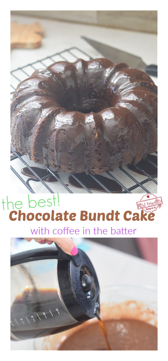 Chocolate Cake with coffee in the batter