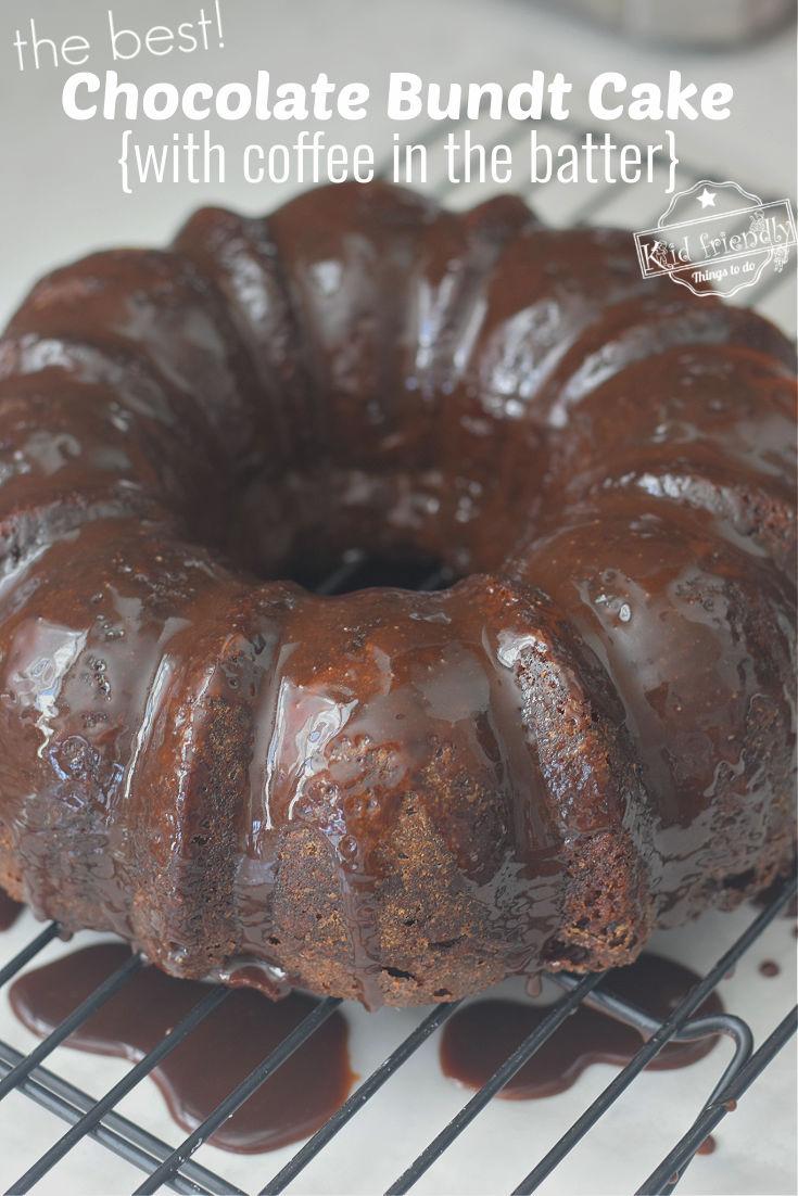 chocolate Bundt cake with glaze