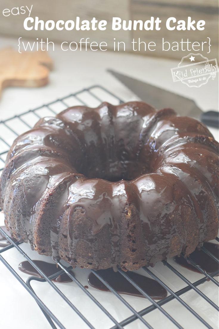 chocolate Bundt cake with chocolate glaze