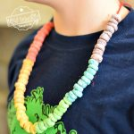 Fruit Loop Necklace Activity for kids
