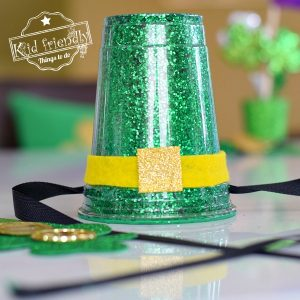 Making a Plastic Cup Leprechaun Hat for St. Patrick's Day with the kids