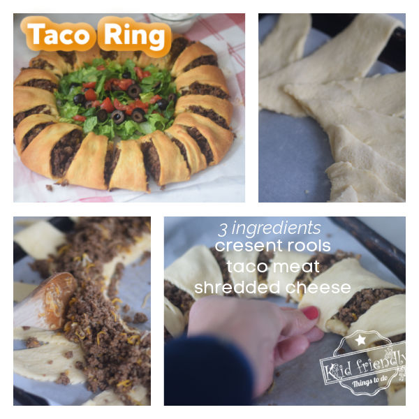 taco ring appetizer with crescent rolls