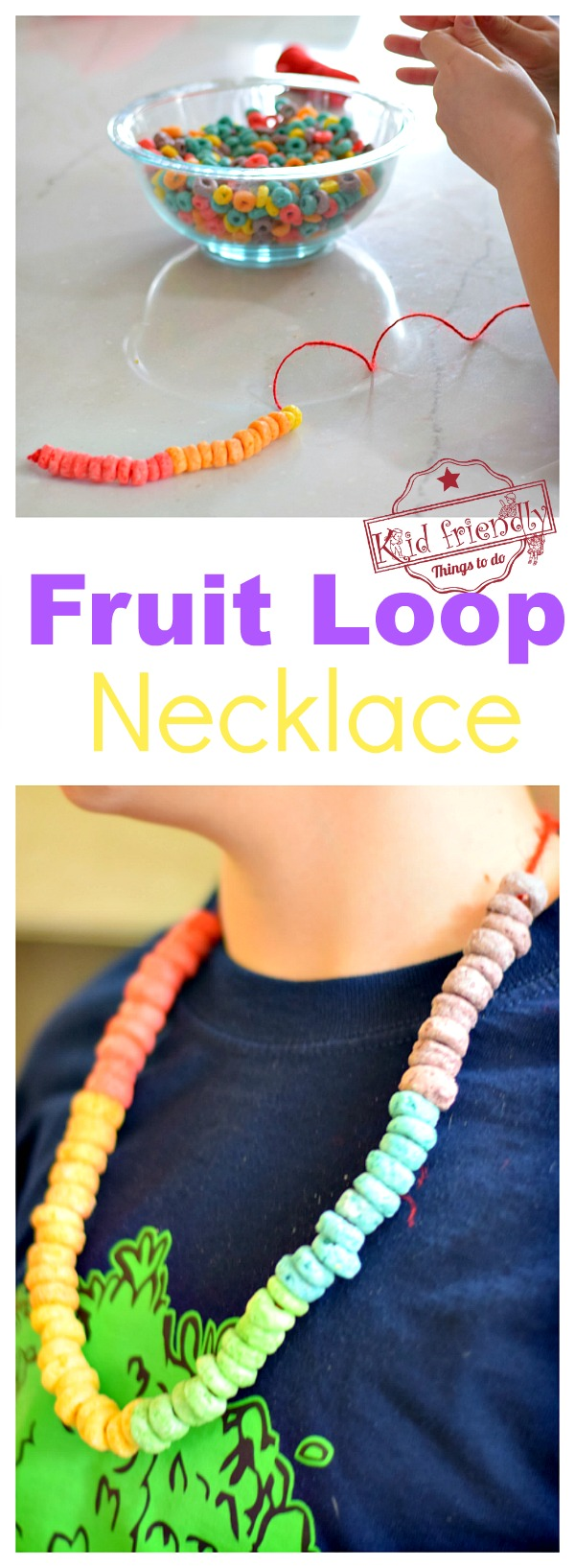fruit loop necklace 100 days of school activity