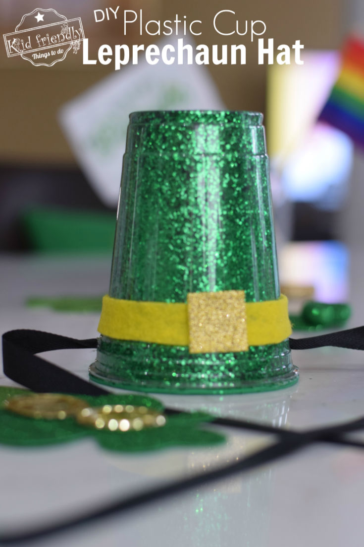 Making a plastic cup leprechaun hat decoration