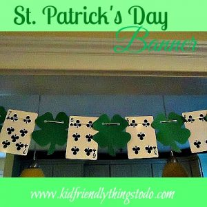 St. Patrick's Day Banner made from Playing Cards