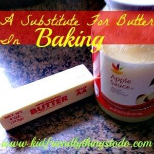 substitute applesauce for butter in baking