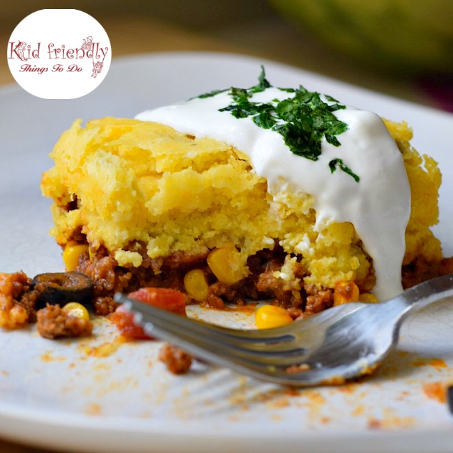 Mexican Cornbread With Ground Beef Cornbread and Ground B...