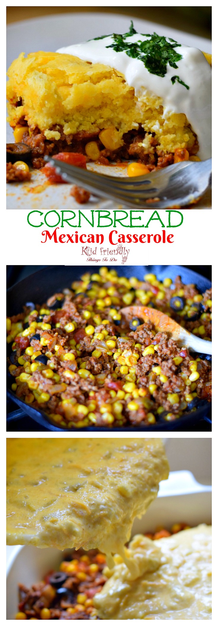 Cornbread And Ground Beef Mexican Casserole Recipe
