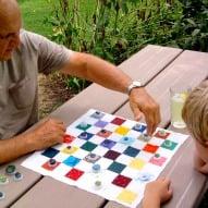 DIY Fabric Checkerboard