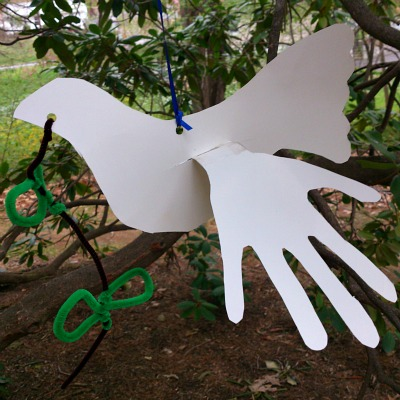 Perfect Craft For Martin Luther King Day - Dove Craft With Child Hand Prints For Wings