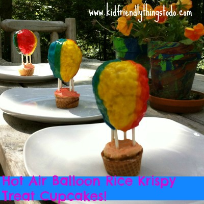 A Hot Air Balloon Cupcake Idea – A Fun Food – Kid Friendly Things To Do .com