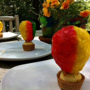 Making Hot Air Balloon Cupcakes