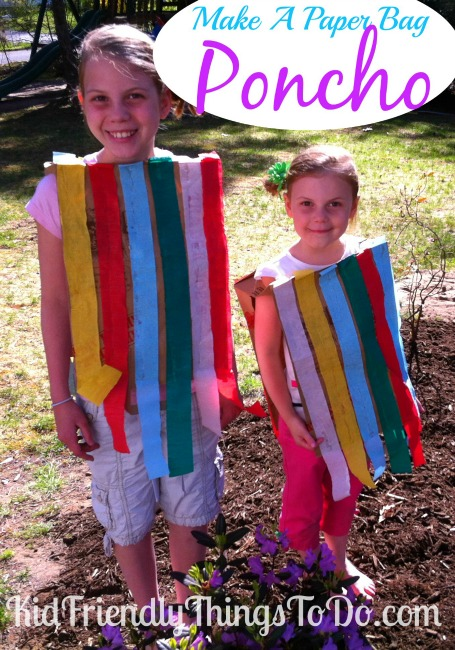 A Mexican Poncho Made Out Of A Paper Bag | Kid Friendly Things To Do