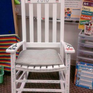 Rocking chair teacher gift for kids