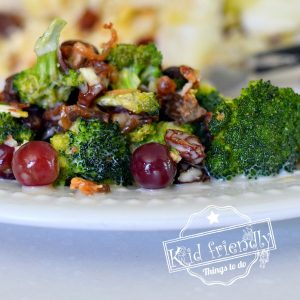 Broccoli Salad Recipe with bacon, grapes and raisins