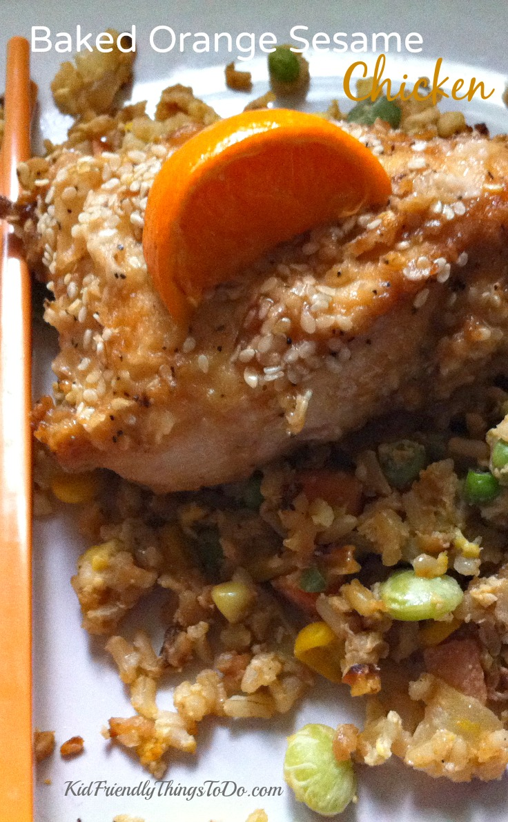 Better than Take-Out Baked Orange Sesame Chicken – Kid Friendly Things To Do