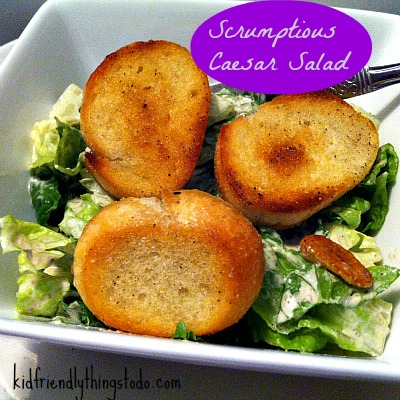 Scrumptious Caesar Dressing & Caesar Salad Recipe - Warning! Once you taste this, you'll never buy a salad kit again! It's so simple, too!