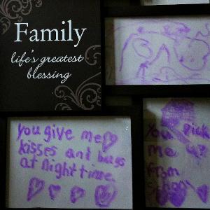 "DIY Dry Erase ""I Love You Because"" Board"