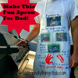 Father's Day Gift Idea for kids - Apron for dad