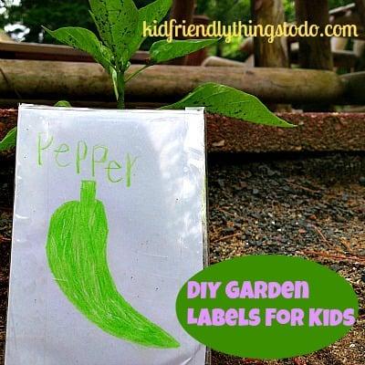 DIY Garden Labels For Kids
