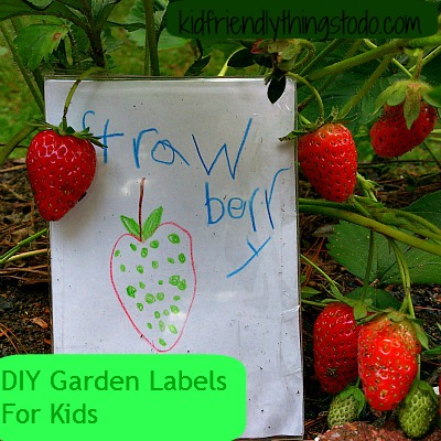 DIY Garden Labels With Kid's Artwork Displayed – Kid Friendly Things To Do