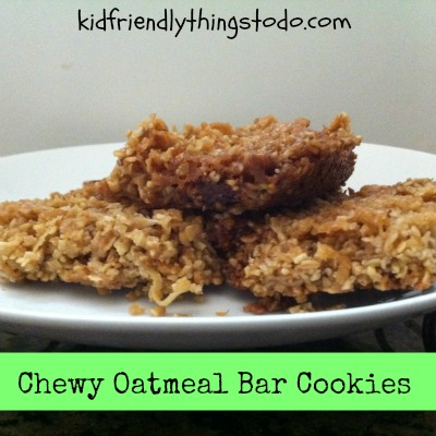 Chewy Oatmeal Bar Cookies – Kid Friendly Things To Do