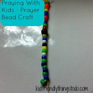 Prayer Craft - praying beads for kids