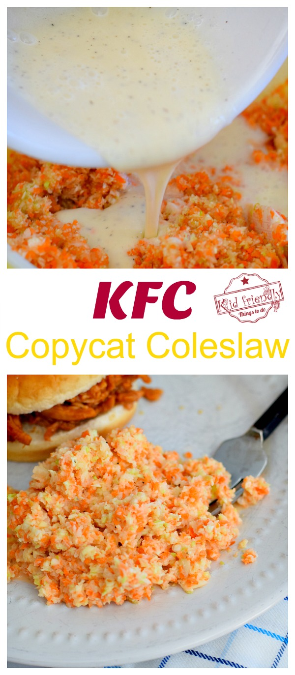 Making KFC Coleslaw