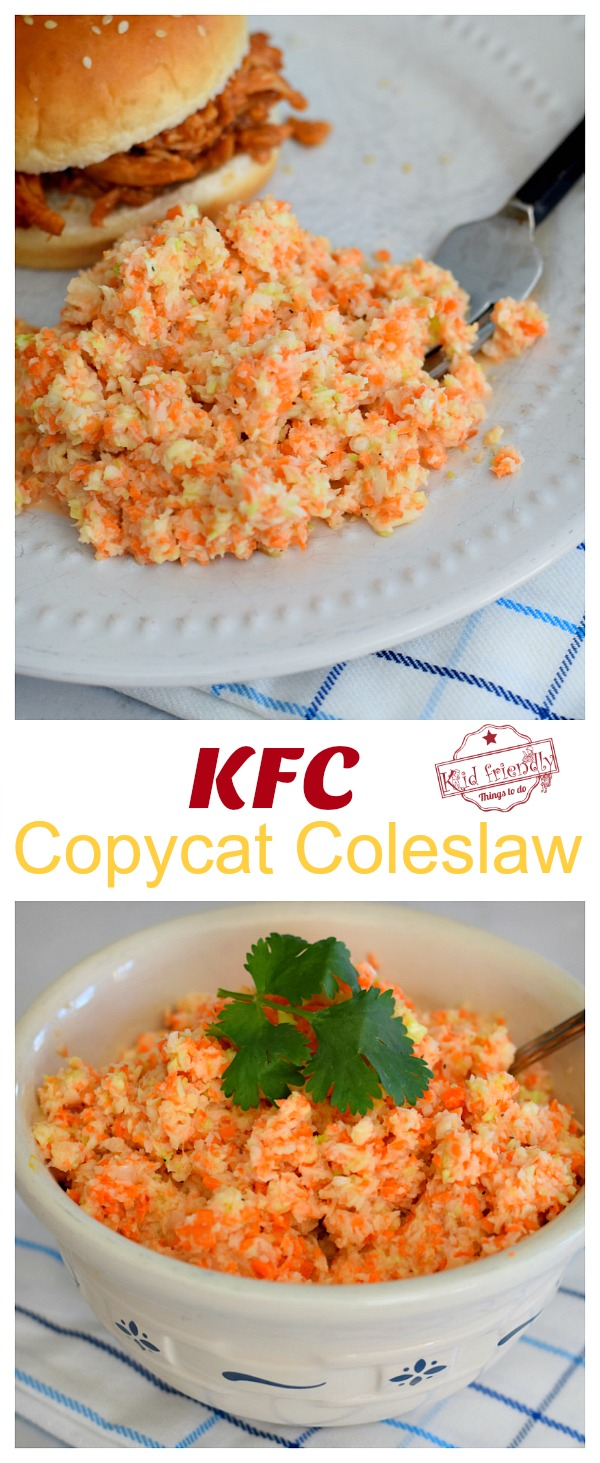 KFC Coleslaw on display