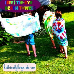 Tie Dye A Towel For A Cool Beach Towel, or Bath Towel! – Kid Friendly Things To Do .com